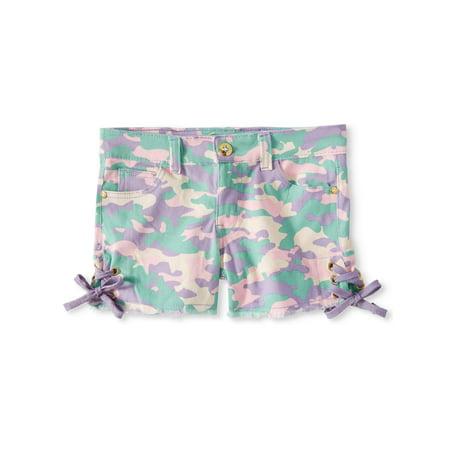 Dyed Twill Short - XOXO Camo Print Twill Short (Big Girls)