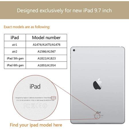Utryit iPad 9.7 Case, 2018 iPad 6th Generation Case / 2017 iPad 5th Generation Case Slim Lightweight Stand Case - image 2 of 5