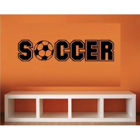 "SOCCER ~ WALL DECAL, 5"" x 22"""