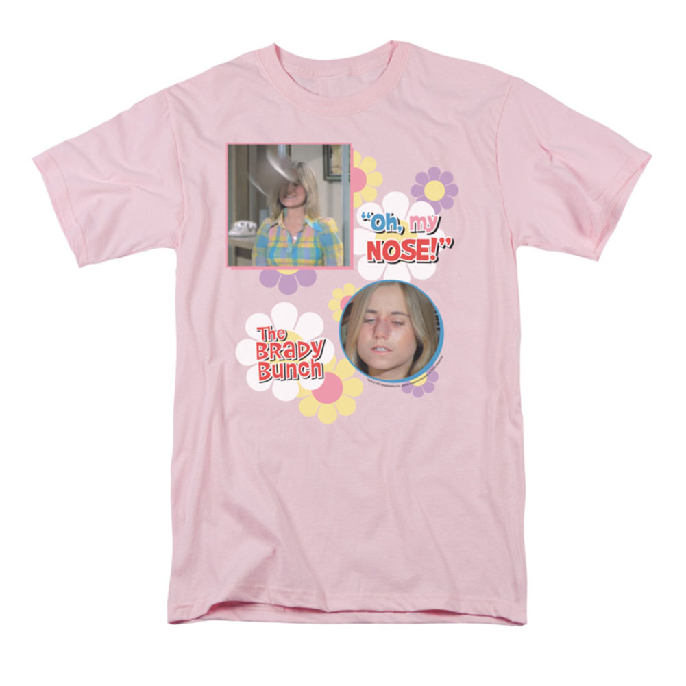 Brady Bunch Men's  Oh, My Nose! T-shirt Pink