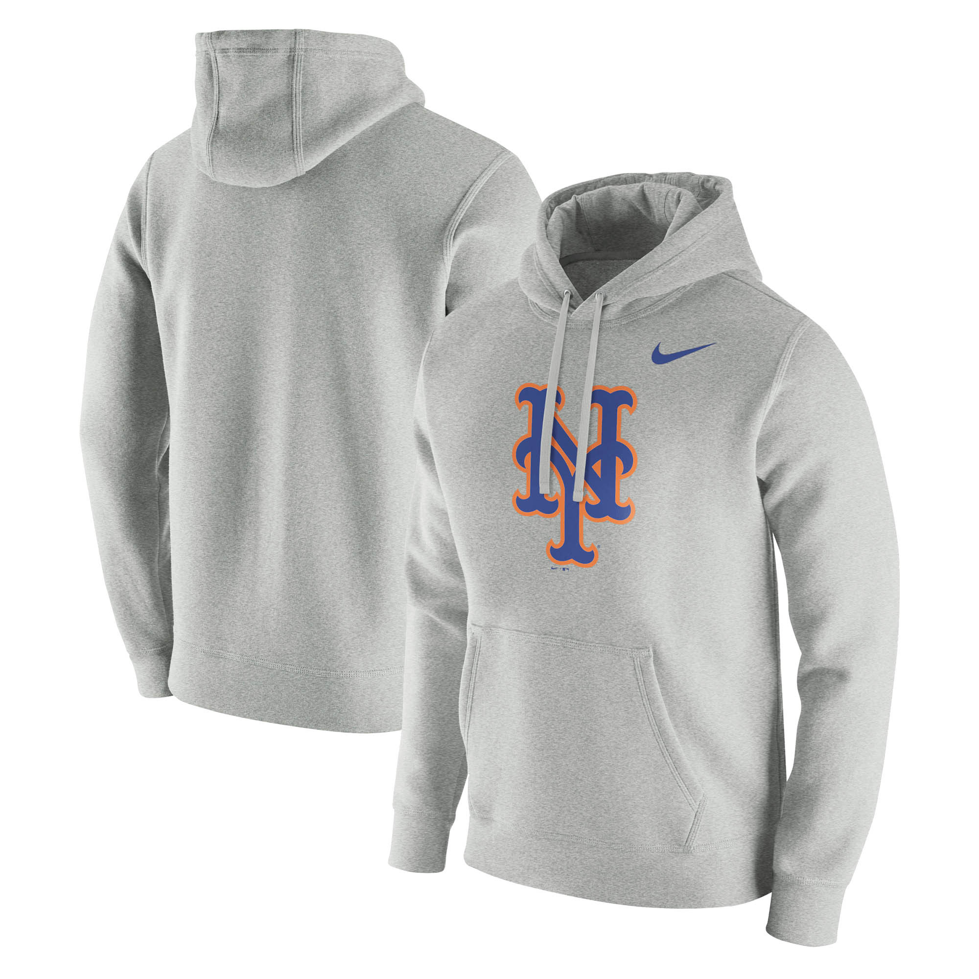 New York Mets Nike Franchise Hoodie - Heathered Gray