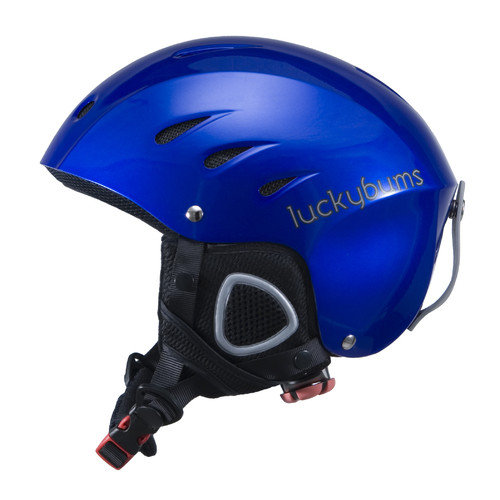 Lucky Bums Snow Sport Helmet with Fleece Liner, Metallic Black, X-Large by Lucky Bums