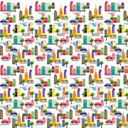 Wallcandy Arts fb18wp French Bull Cityscape Wallpaper - Full Kit