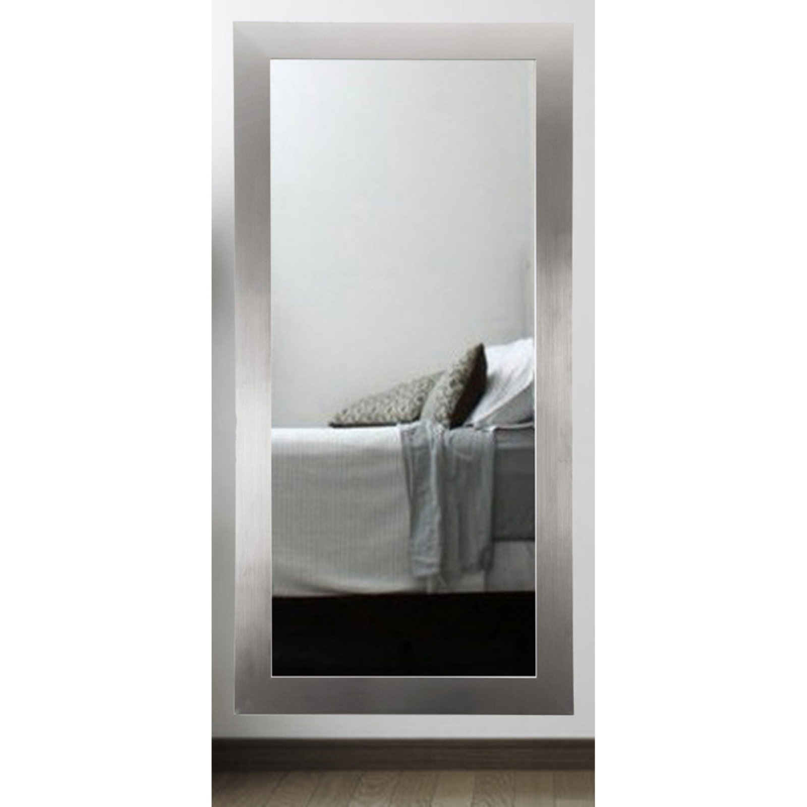 BrandtWorks Designers Choice Leaning Floor Mirror Silver by Overstock