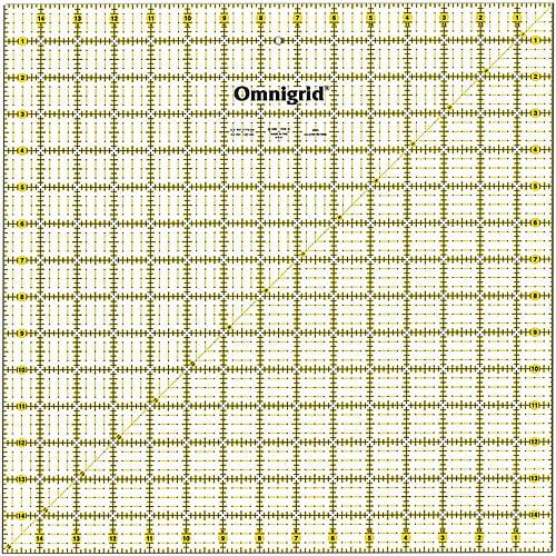 """Omnigrid Quilter's Square, 15""""x15"""
