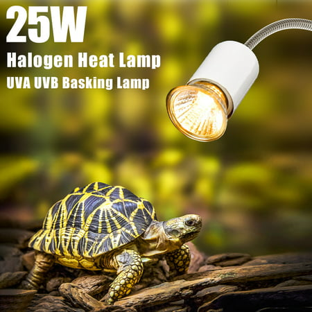 - 25W Halogen Heat Lamp UVA UVB Basking Lamp Heater Light Bulb for Reptiles Lizard Turtle Aquarium