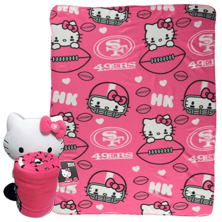 San Francisco 49ers The Northwest Company Hello Kitty Blanket Hugger Set - No