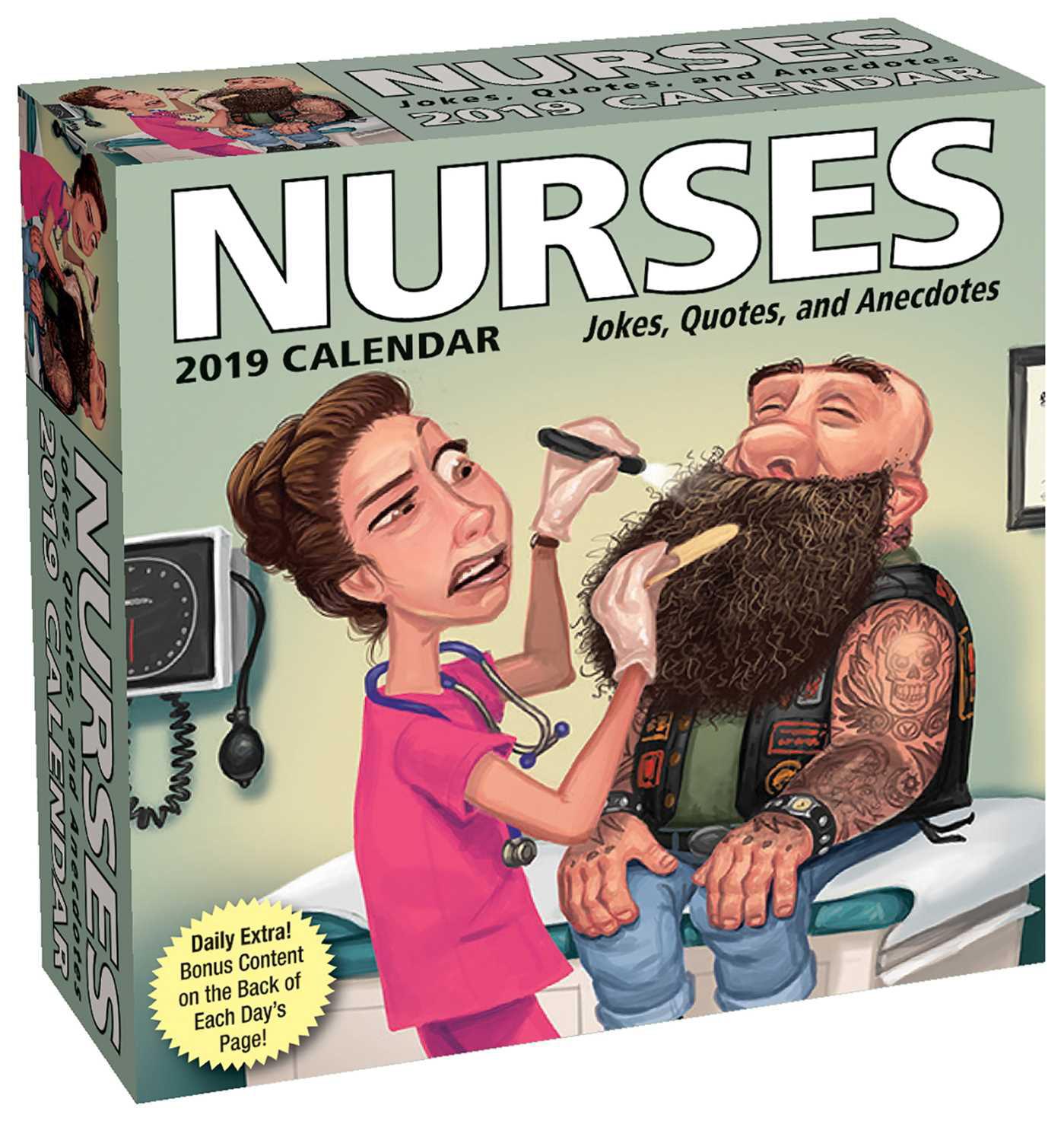 Nurses 2019 Day-to-Day Calendar : Jokes, Quotes, and Anecdotes