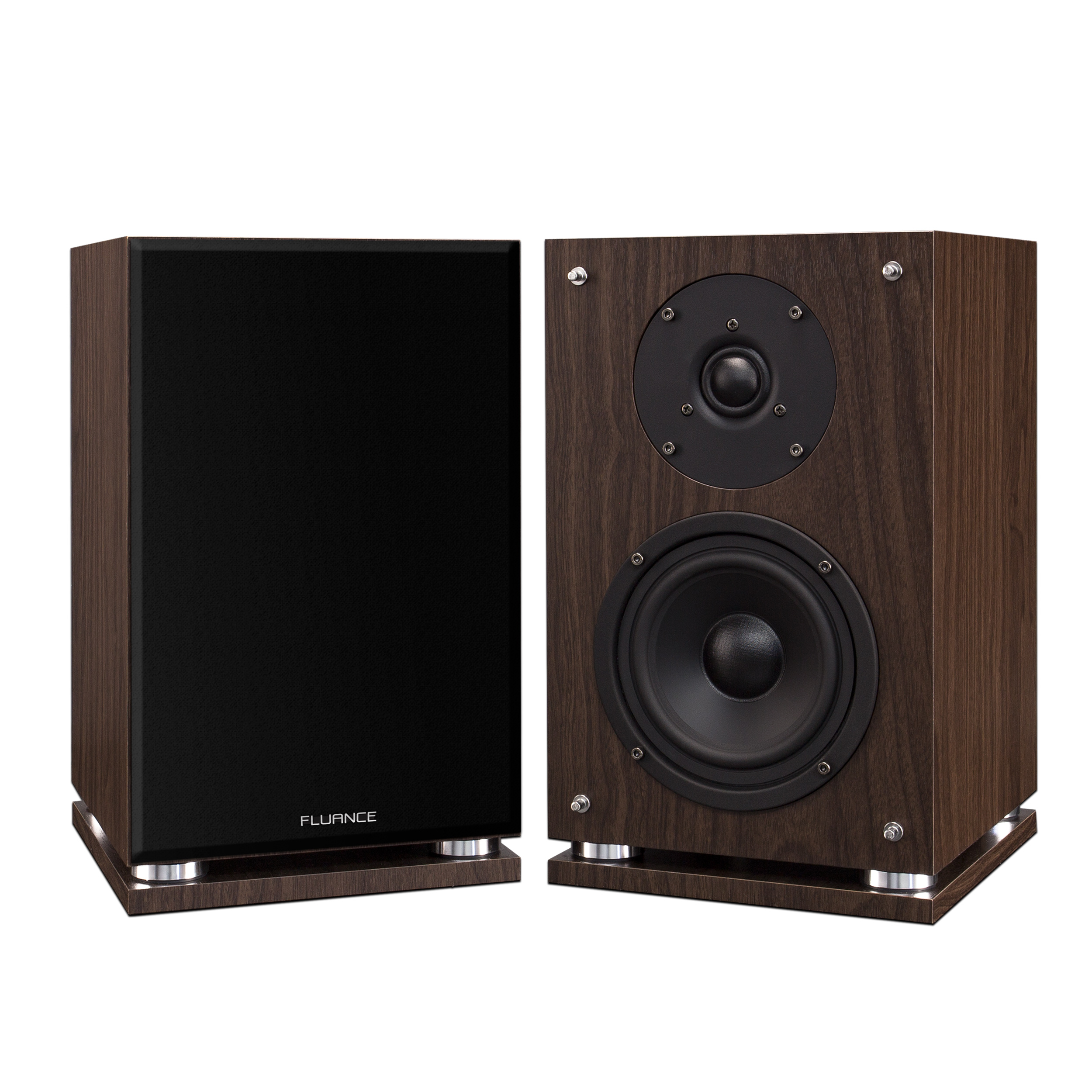 Fluance SX6W High Definition Two-Way Bookshelf Loudspeakers - Natural Walnut