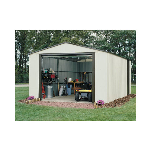Bundle-51 Arrow Murryhill 12 Ft. W x 17 Ft. D Vinyl Coated Steel Storage Shed (2 Pieces)