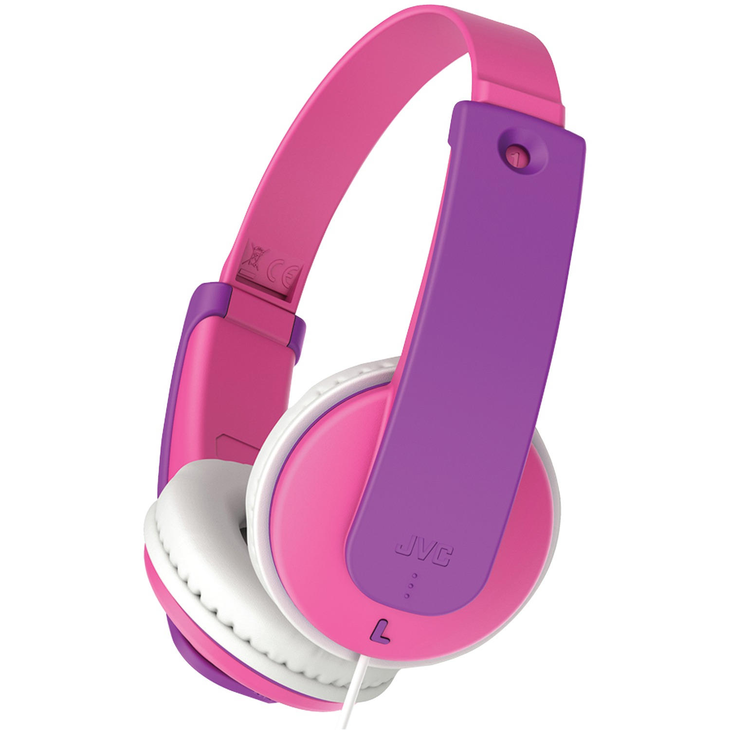 JVC HAKD7P Kids' Over-Ear Headphones (Pink)