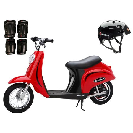 Razor Pocket Mod Electric Scooter (Razor Pocket Mod 24V Electric Scooter (Red) w/ Helmet, Elbow and Knee Pads )