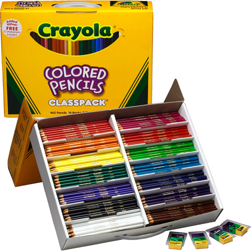 Crayola 462-Count Color Pencil Classpack, 14 Colors