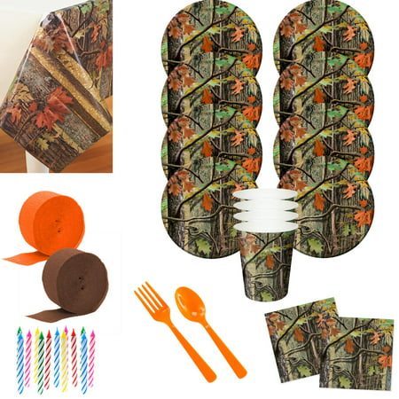Hunting Camo Deluxe Tableware Kit](Hunting Costumes)