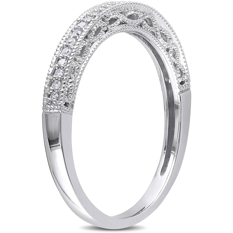 miabella 1 10 carat t w diamond 10kt white gold wedding band