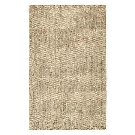 Anji Mountain Hand Woven Cascade Natural and Ivory Jute Rug