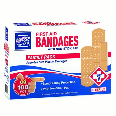 First Aid Only Plastic Bandages - Lucky Super Soft Bandages, First Aid Bandages, 100 Ct