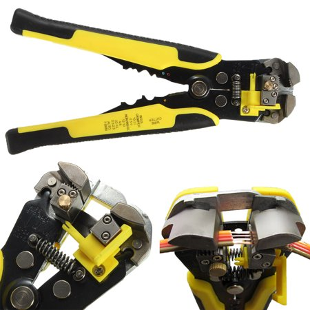 Professional Automatic Wire Striper Cutter Stripper Crimper Pliers Heavy-Duty Terminal (Best Automatic Wire Stripper)