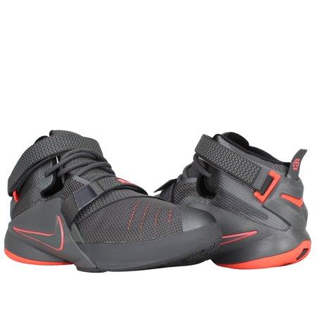 2d099c043b5 Nike - Nike Lebron Soldier IX (GS) Grey Hot Lava Big Kids Basketball Shoes  776471-002 - Walmart.com