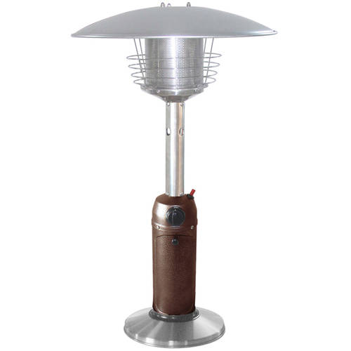 Hiland Portable Hammered Bronze and Stainless Steel Patio Heater by AZ Patio Heaters