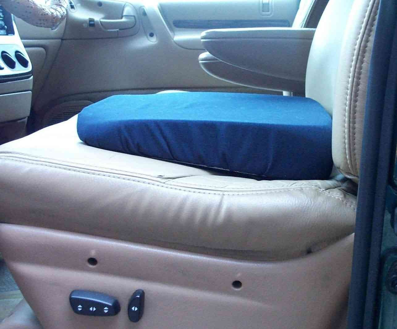 Seat Wedge Cushion 15x14 In Blue Washable Cover Extra Dense Foam By Rose From USA