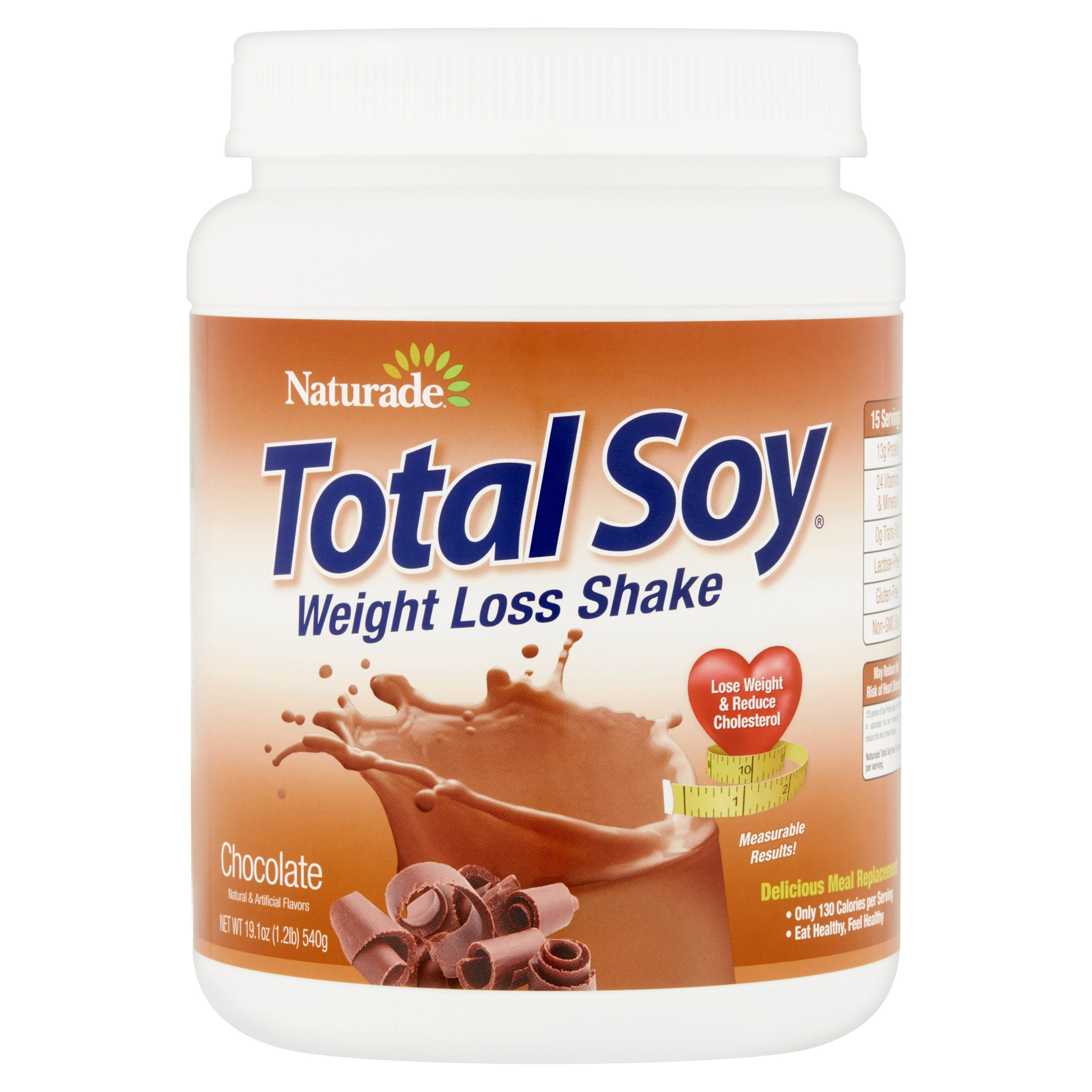 Naturade Total Soy Chocolate Weight Loss Shake, 19.1 oz