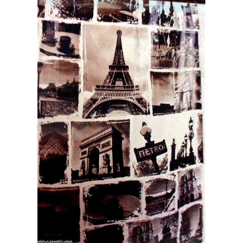 Shower Curtain Paris By Splash Black and White