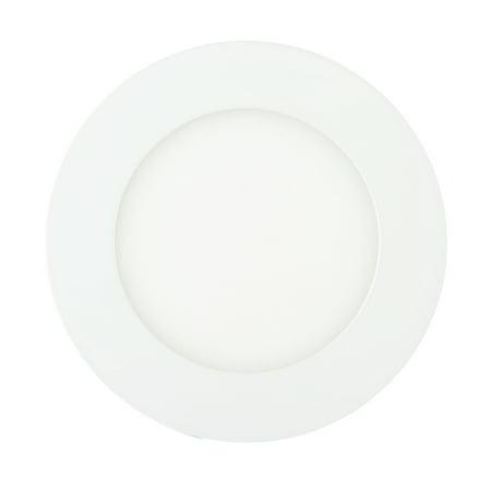 312 Ultra Flush - TKOOFN 6W LED Recessed Panel Light Flush Mount Ceiling Light Ultra Slim Round Downlight Warm White
