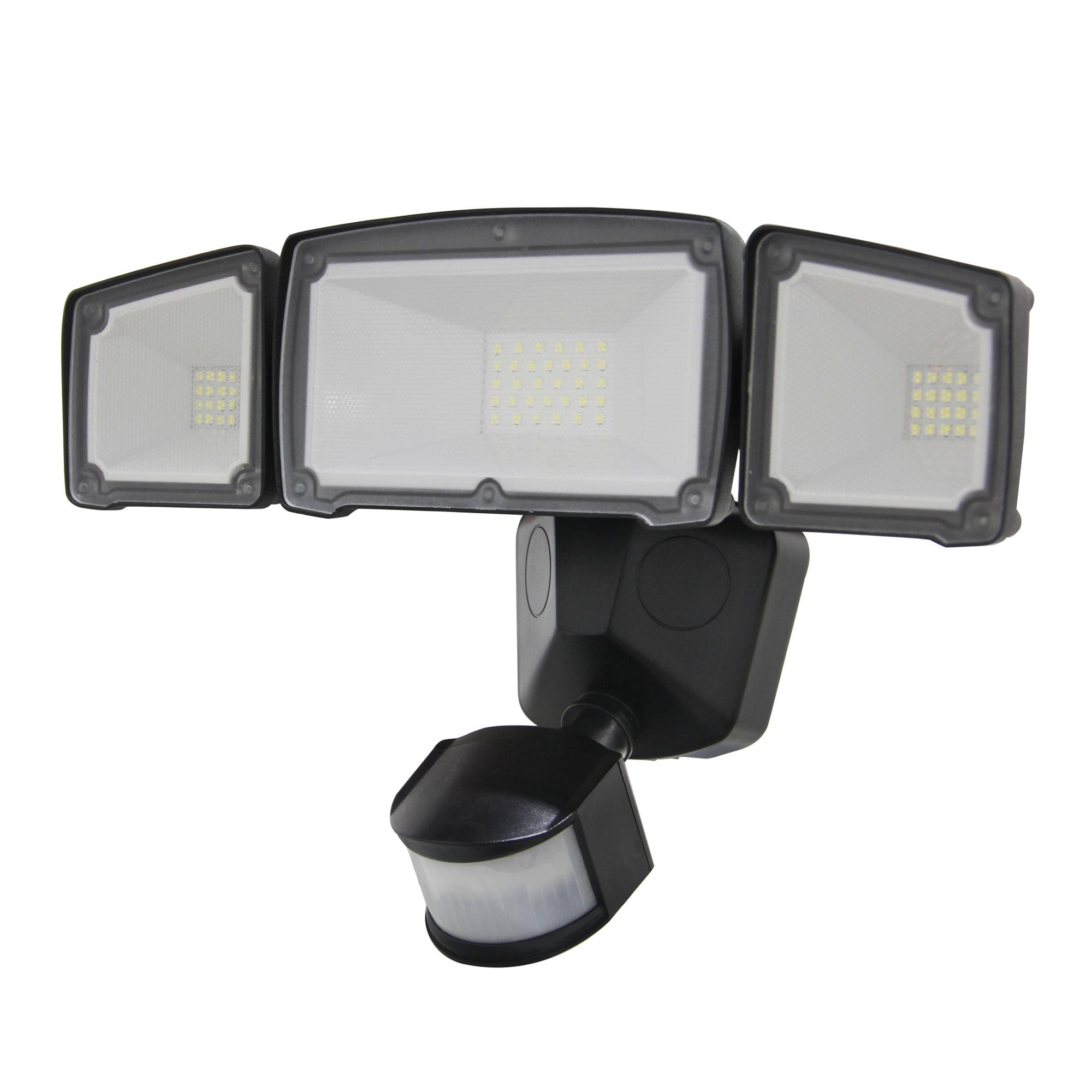 Luxworx Wide Angle Three Head Solar Powered Outdoor Led Motion Sensor Light Walmart Com Walmart Com