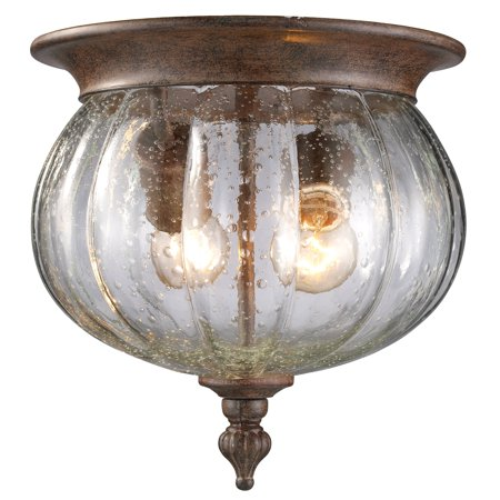 New zlite Product  Belmont Collection Outdoor Flush Mount Light in Weathered Bronze Finish Sold by VaasuHomes