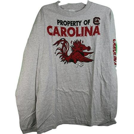 Ncaa Pro Edge South Carolina   34 Property Of Carolina  34  Long Sleeve Adult Tee Shirt Large