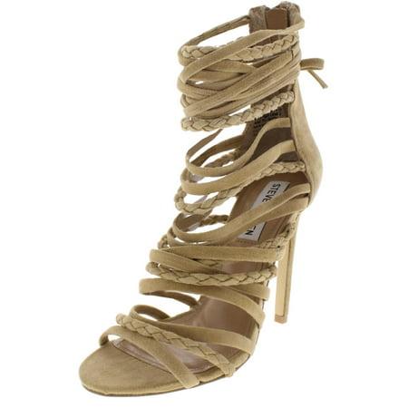 b36d3c1e883 Steve Madden Womens Drexel Suede Stiletto Dress Sandals