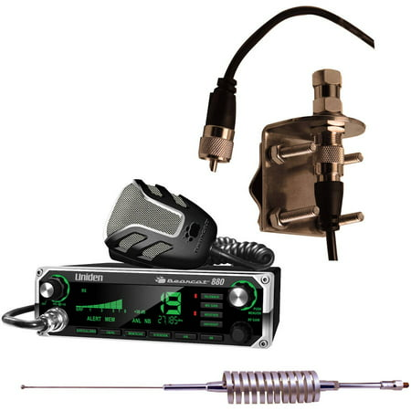 eafd67165ad88 Uniden Bearcat 880 40-Channel CB Radio With 7-Color Display Backlighting,  Browning BR-78 Flat Coil CB Antenna and Browning BR-MM-18 Mirror-Mount Kit  ...