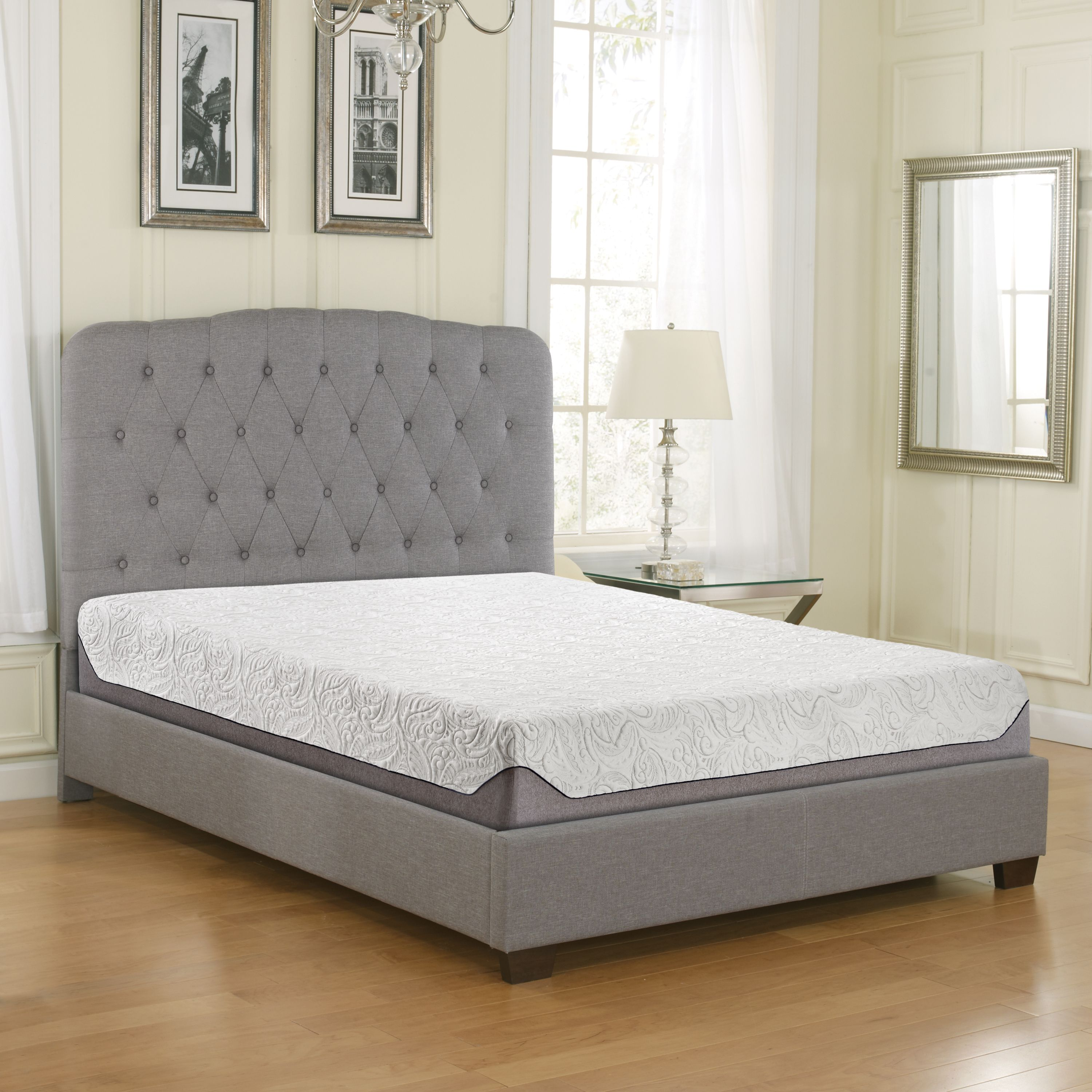 "Contura 8"" AirFlow Gel Memory Foam Mattress, Multiple Sizes"
