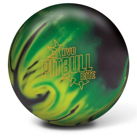 DV8 Pitbull Bite Bowling Ball- Black/Yellow/Neon Green (Best Dv8 Bowling Ball)