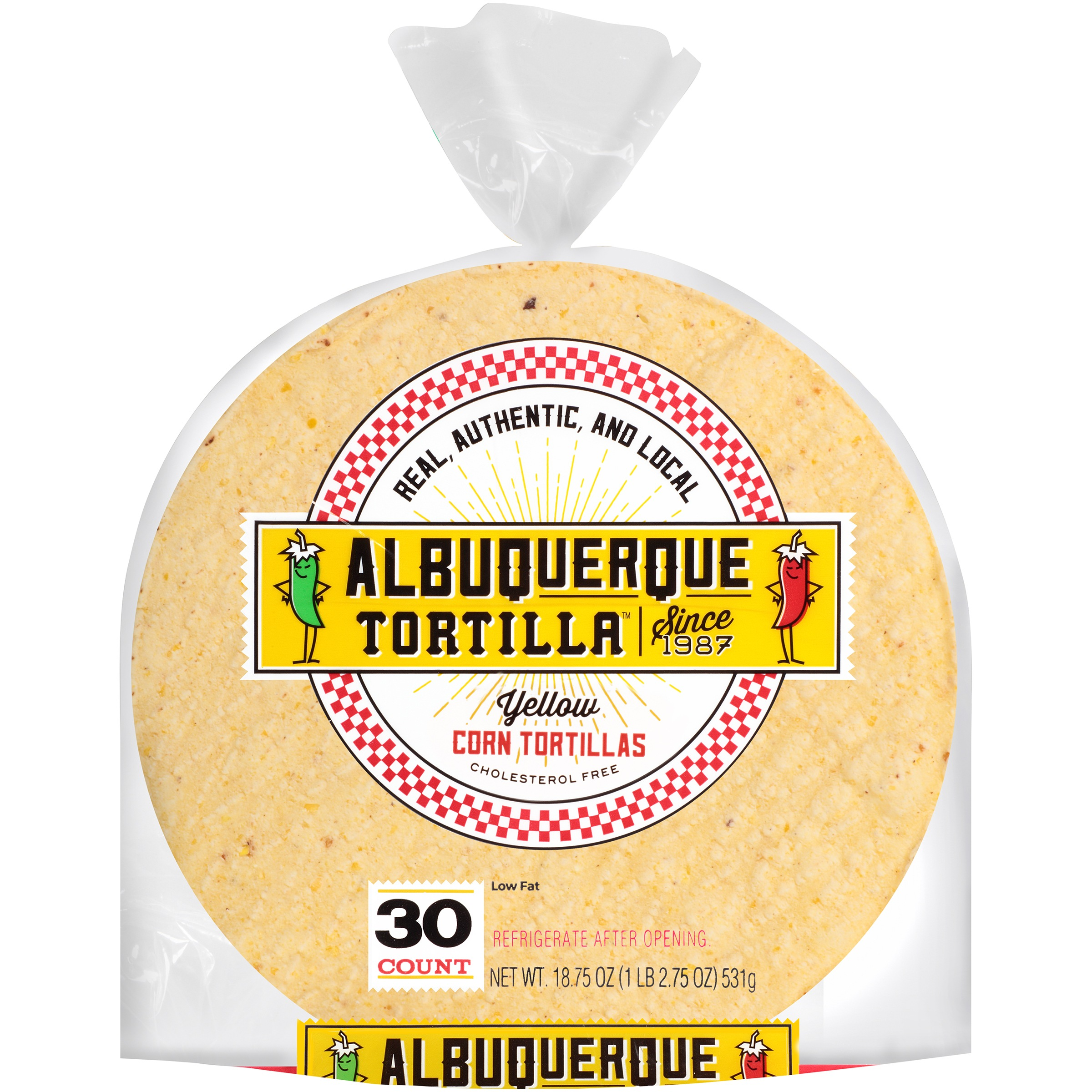 Albuquerque Tortilla™ Yellow Corn Tortillas 18.75 oz. Bag