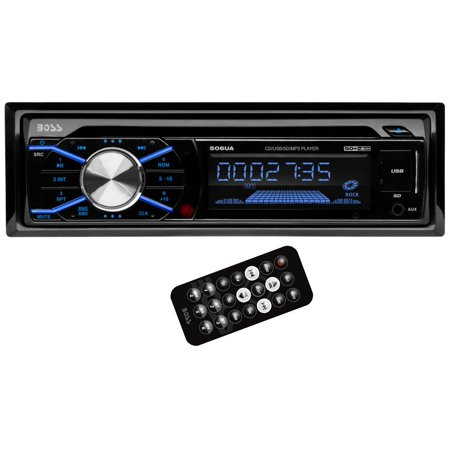 Boss 506UA In Dash Car Stereo CD MP3/USB/SD Player AM/FM Receiver Radio + Remote (Cd Car Music Player)