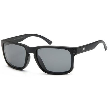 GAMMA RAY Polarized UV400 Classic Sunglasses with Shatterproof Nylon Frame – Gray Lens on Black (Gamma Ray Optics Sunglasses)