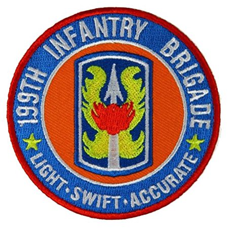 199TH INFANTRY BRIGADE LIGHT SWIFT ACCURATE ROUND PATCH - Color - Veteran  Owned Business