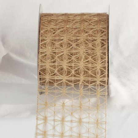 Natural Jute Woven Netting Wired Craft Ribbon 4