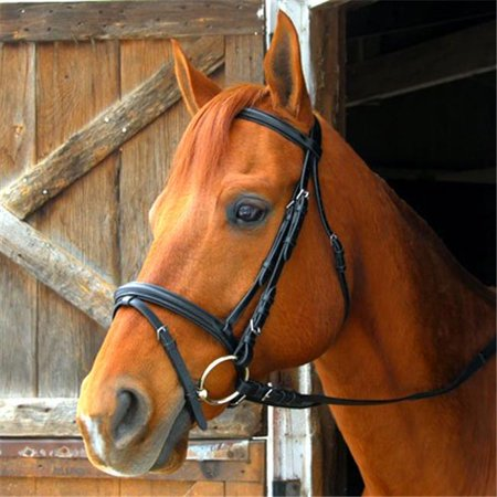Pony Dressage Bridle - Exselle AEBD056P Dressage or Eventing Bridle, Pony Size