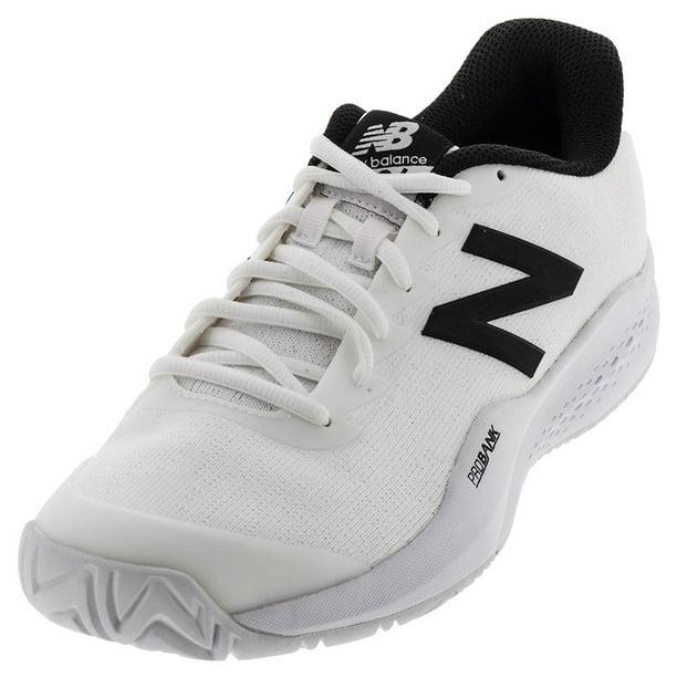 new balance men's mc996v3 tennis shoe, white/black, 11 d us