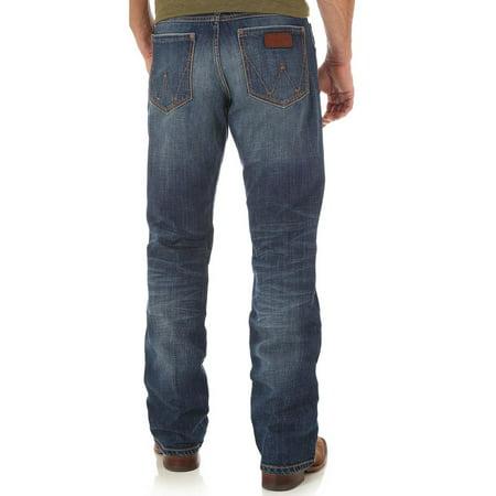 Indigo Striped Jeans - Wrangler Men's Retro Indigo Relaxed Fit Jeans Boot Cut - Wrt20jh