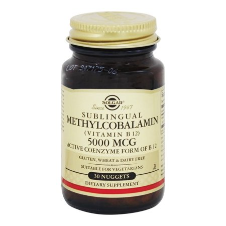 Solgar - sublinguale Methylcobalamin vitamine B12 5000 mcg. - 30 Nugget (s)