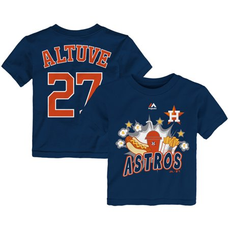 Jose Altuve Houston Astros Majestic Toddler Snack Attack Name & Number T-Shirt - Navy
