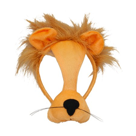 Child's Zoo African Safari Animal Plush Cartoon Lion Mask Costume - Lion Mask