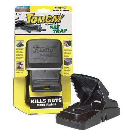 TOMCAT 33521 Rat Trap, 3-3/4 In. L, 5-1/4 In. W