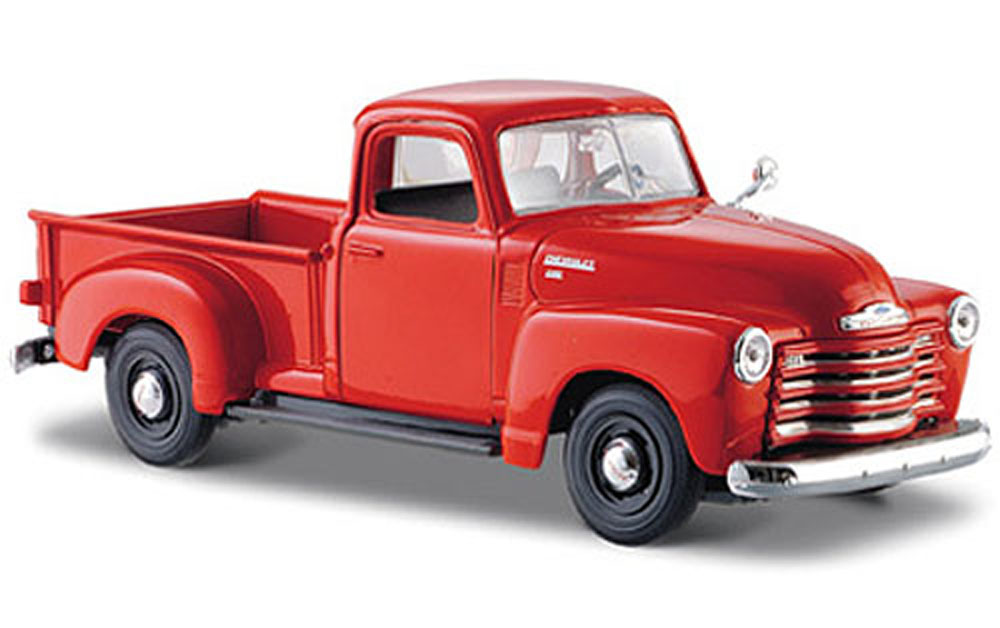 1950 Chevy 3100 Pickup Truck, Orange Maisto 31952 1 24 Scale Diecast Model Toy Car by Maisto