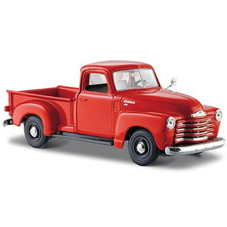1950 Chevy 3100 Pickup Truck, Orange - Maisto 31952 - 1/24 Scale Diecast Model Toy Car (1 64 Scale Chevy Pickup Trucks)