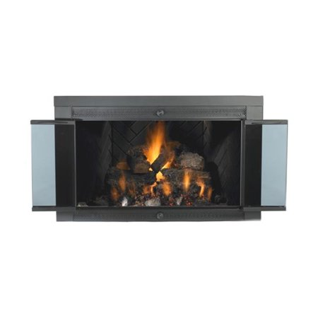 Mr. Flame 70158 Black Finish Smoked 40 X 33 in. Fireplace Smoked Glass